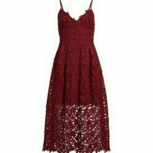 Dresses - NWT Maroon Floral Lace Dress US Plus Size 14